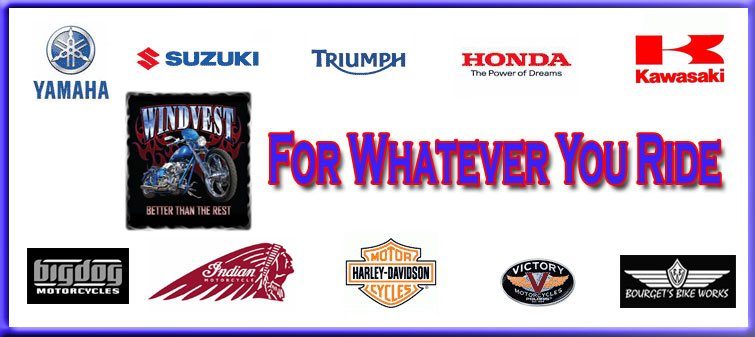 WindVest windscreens for Yamaha, Suzuki, Honda, Kawasaki, Victory, Indian and more